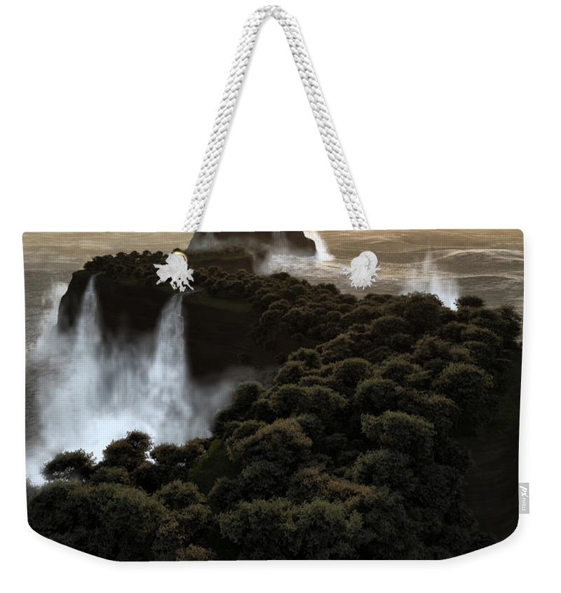 Fantasy Weekender Tote Bag featuring the digital art The Last Colony by Richard Rizzo