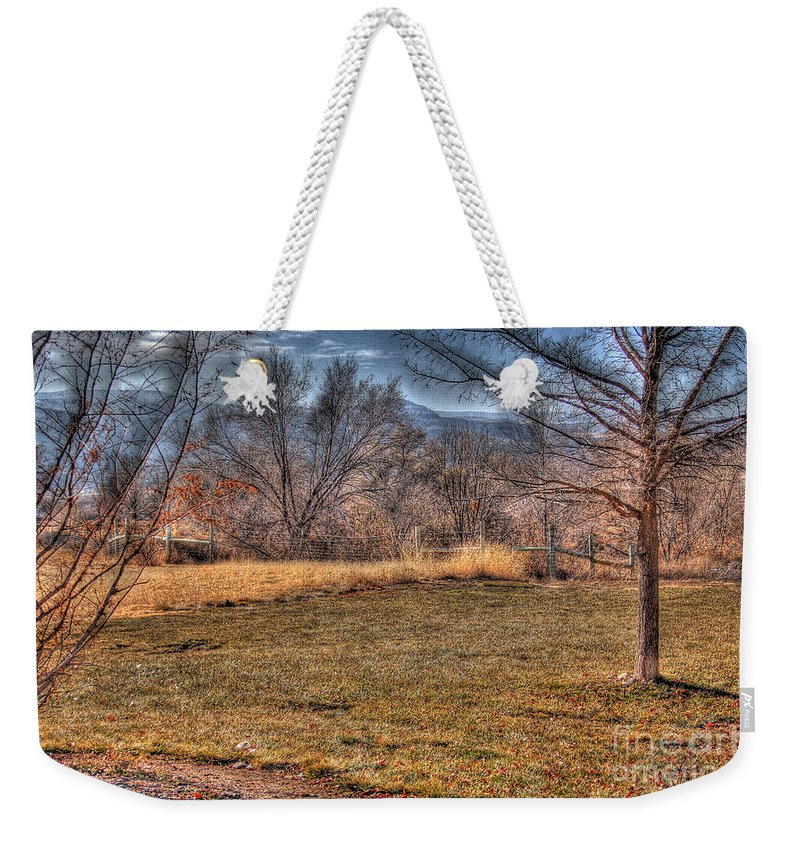 Colorado Weekender Tote Bag featuring the photograph The Last Days Of Fall by Bob Hislop
