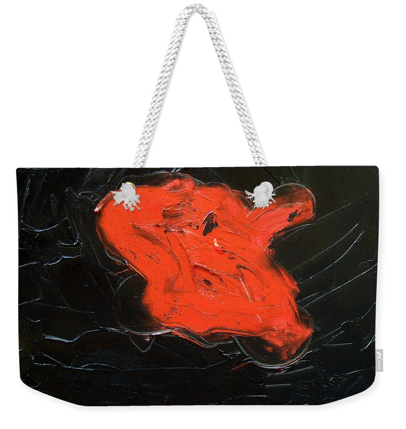 Surreal Weekender Tote Bag featuring the painting The last hope by Sergey Bezhinets