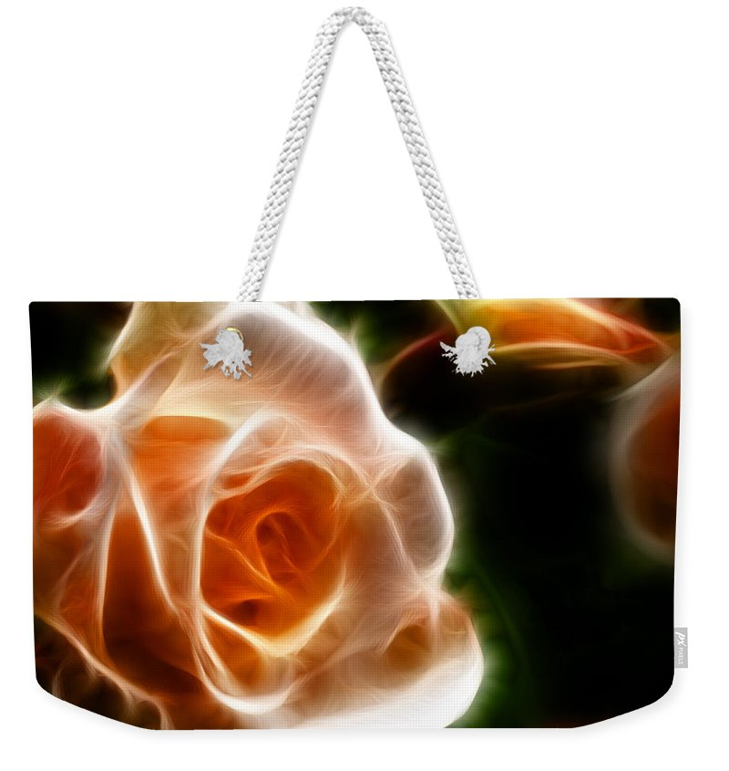 Fractal Weekender Tote Bag featuring the photograph The Last Rose Of Summer by Jordan Blackstone