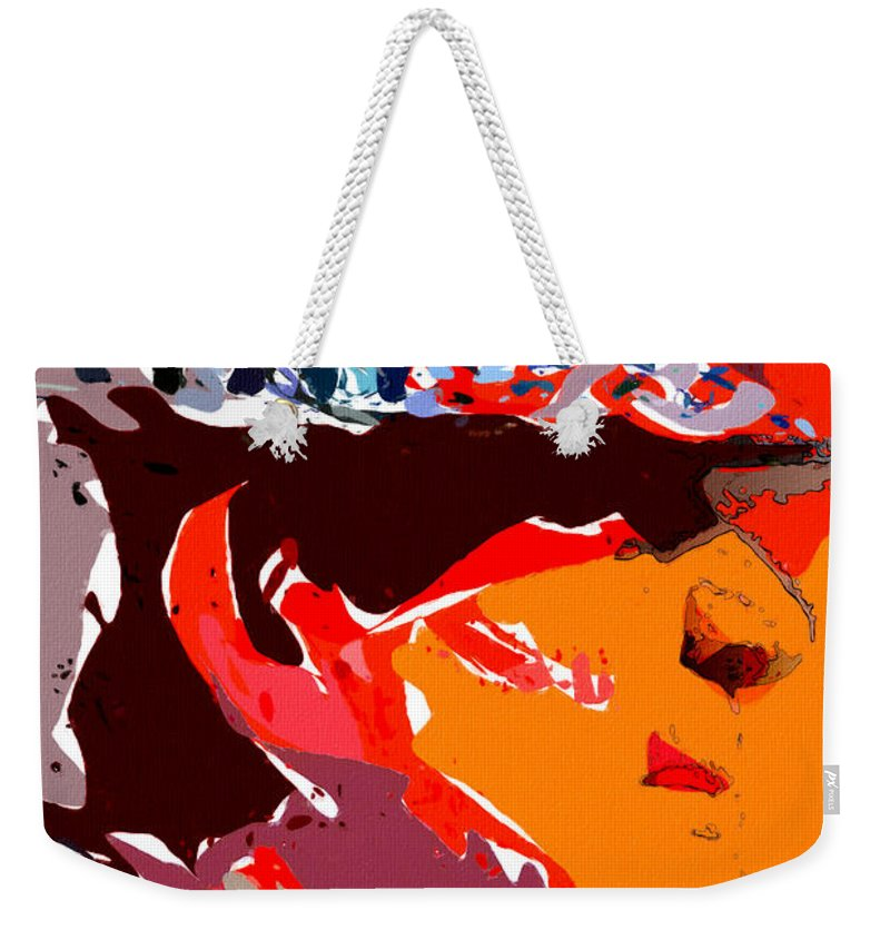 Bear Bryant Weekender Tote Bag featuring the painting The Legend Bear Bryant by John Farr