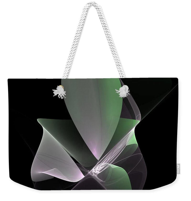 Abstract Weekender Tote Bag featuring the digital art The Light Inside by Gabiw Art