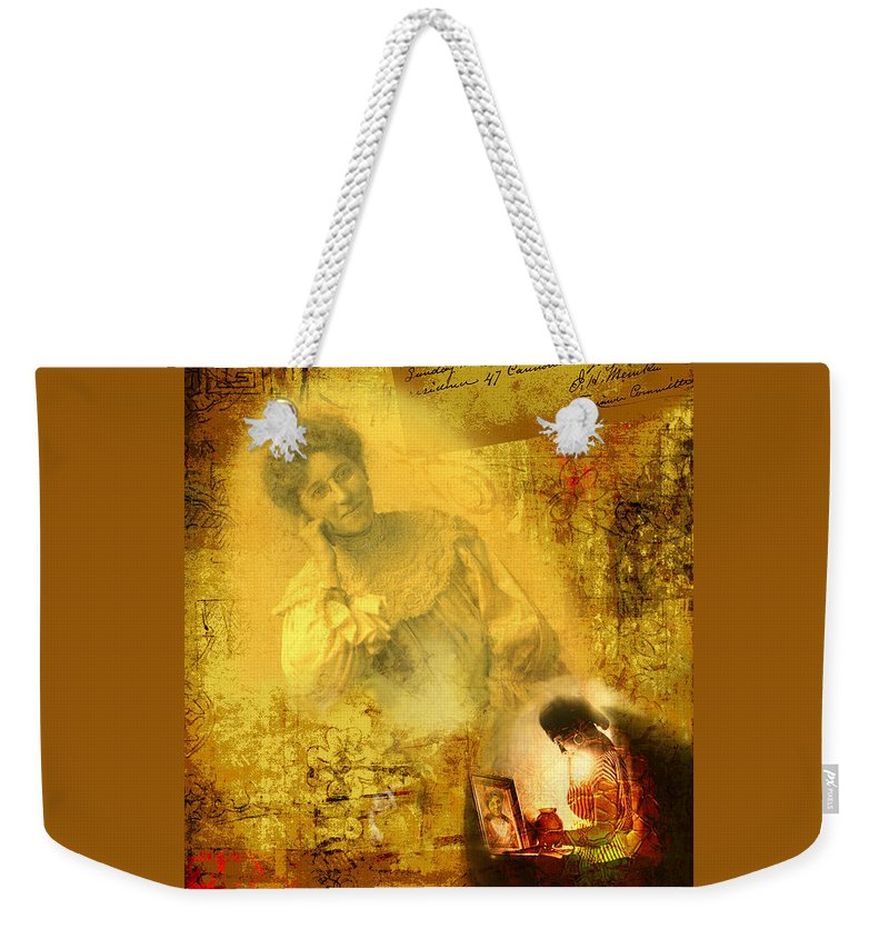 Death Weekender Tote Bag featuring the digital art The Light Inside The Dead by Lisa Yount