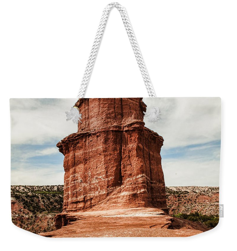 Palo Duro Canyon Weekender Tote Bag featuring the photograph The Lighthouse by George Buxbaum