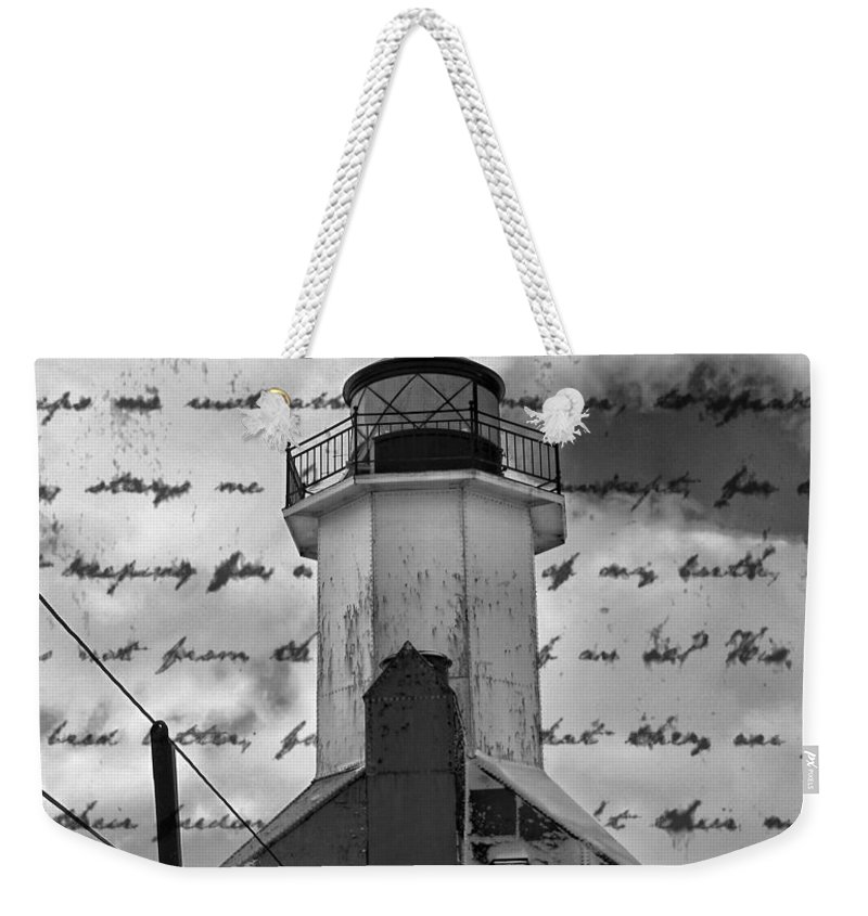The Lighthouse Poem Weekender Tote Bag featuring the photograph The Lighthouse Poem by Dan Sproul