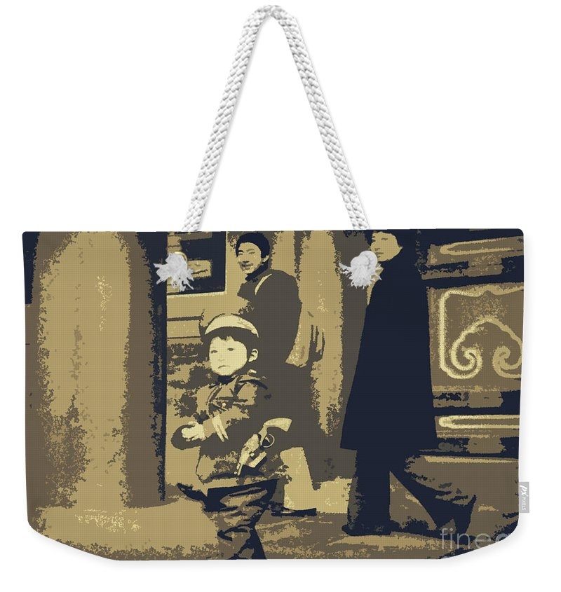 Chinese Art Weekender Tote Bag featuring the photograph The Little Chinese Soldier by Lydia Holly