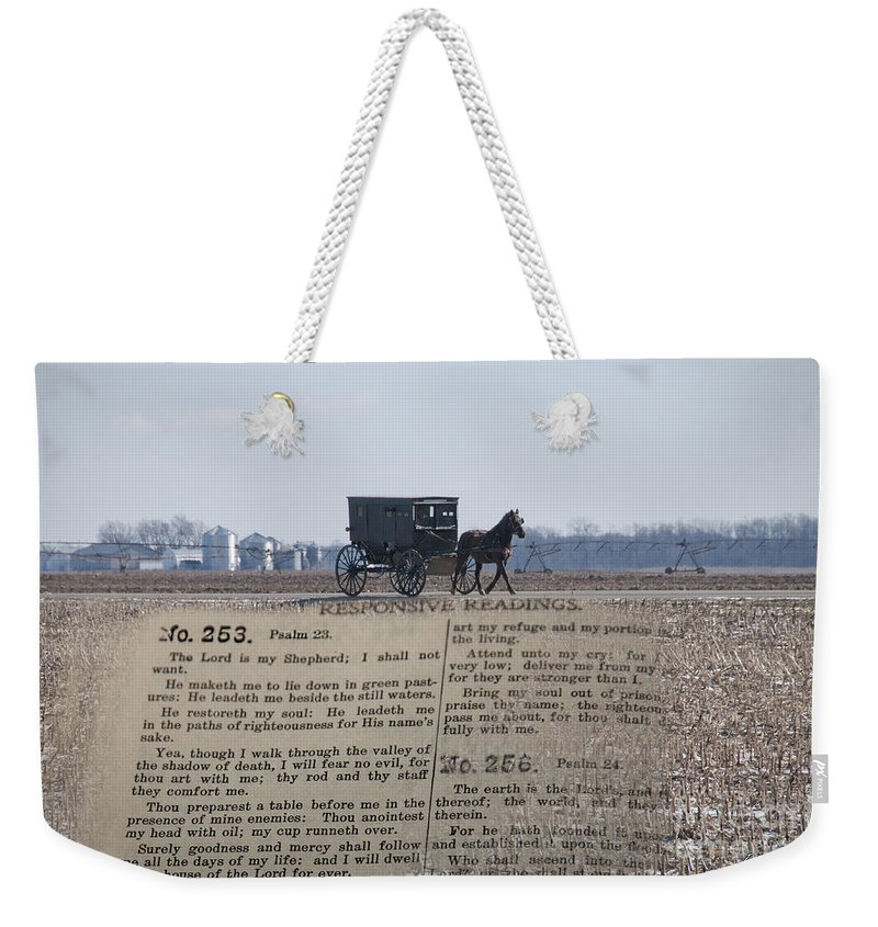 Psalms Weekender Tote Bag featuring the photograph The Lord Is My Shepherd by David Arment