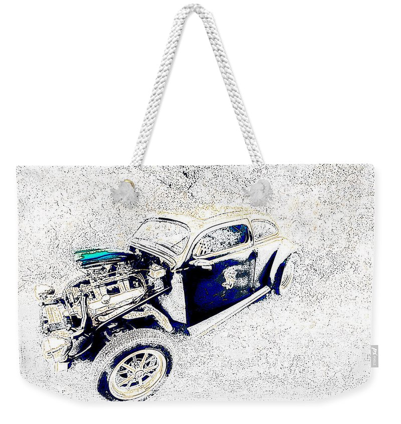 The Love Bug Weekender Tote Bag featuring the photograph The Love Bug by Lyriel Lyra