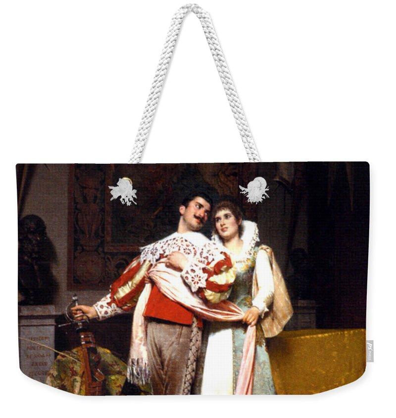 The Lovers Farewell Weekender Tote Bag featuring the digital art The Lovers Farewell by Alfonso Savini
