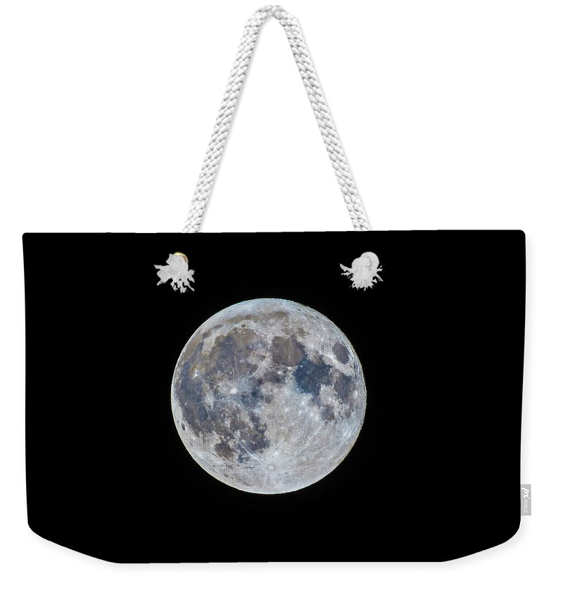 Alan Dyer Weekender Tote Bag featuring the photograph The March Mini-moon by Alan Dyer