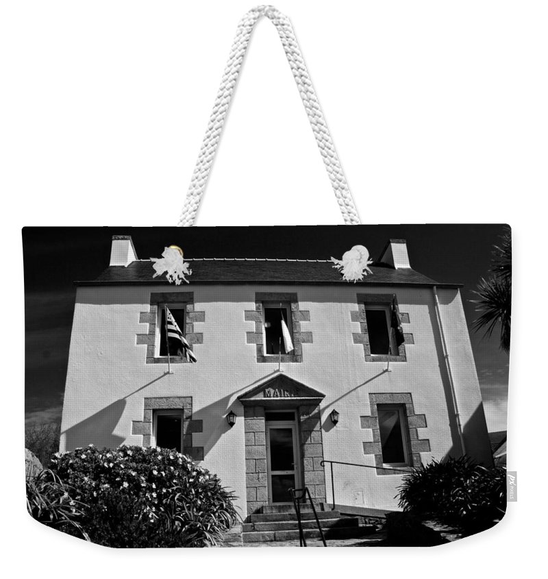 Black And White Weekender Tote Bag featuring the photograph The Marie by Eric Tressler