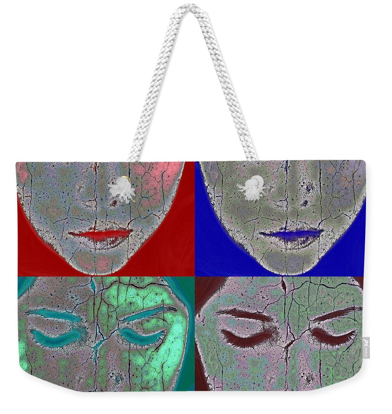 Abstract Weekender Tote Bag featuring the photograph The Mask by Stelios Kleanthous