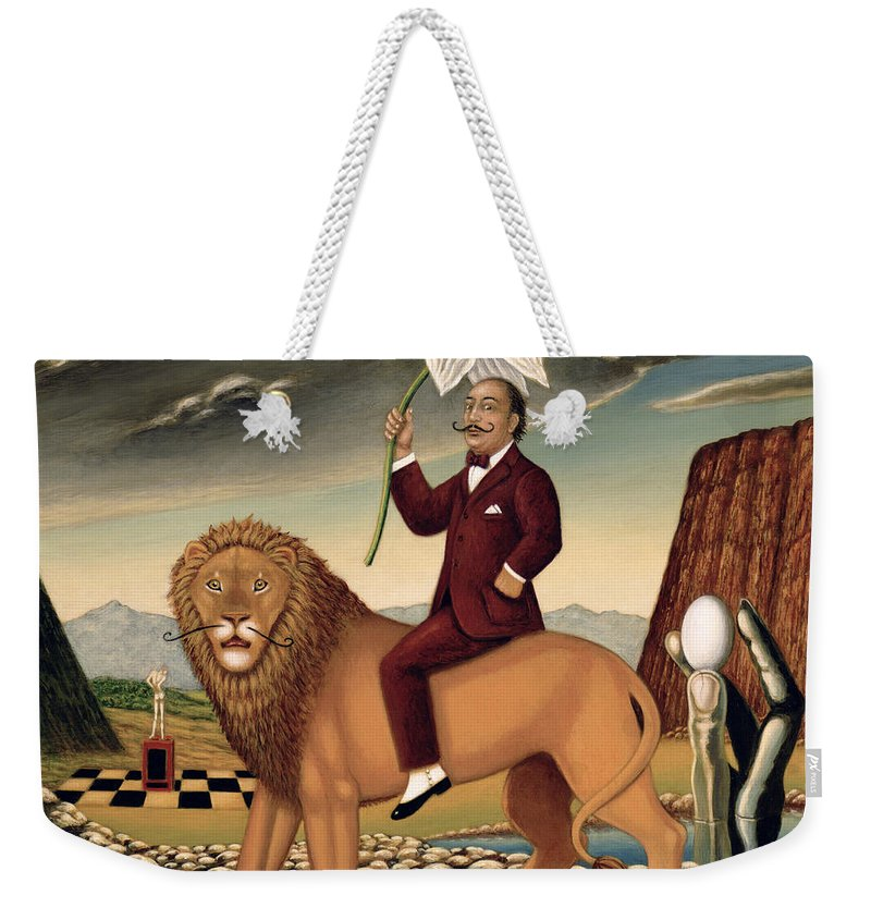 Vain Weekender Tote Bag featuring the painting The Metamorphosis Of A Narcissist by Frances Broomfield