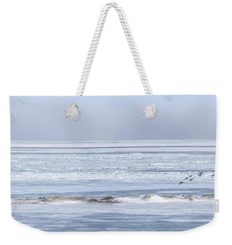 Harbor Beach Weekender Tote Bag featuring the photograph The Mighty Migration by LeeAnn McLaneGoetz McLaneGoetzStudioLLCcom