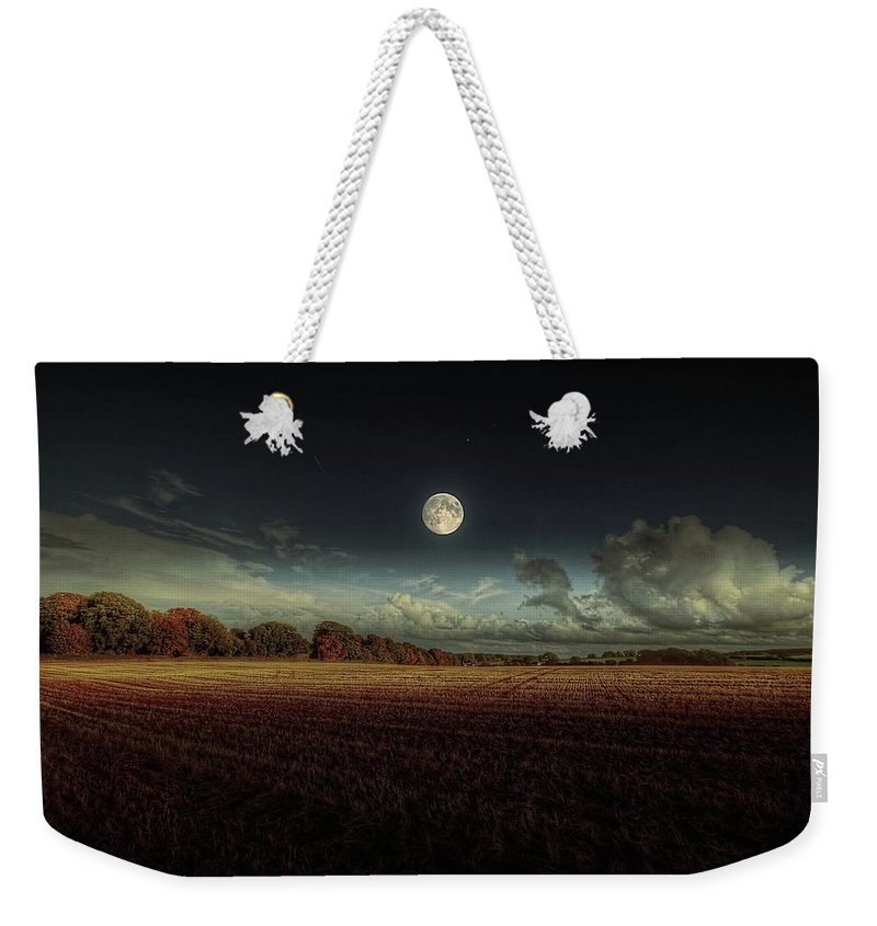 Tranquility Weekender Tote Bag featuring the photograph The Moon by A Goncalves