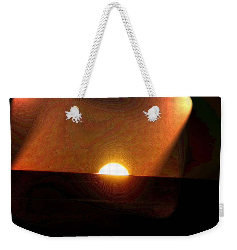 Sunrsie Weekender Tote Bag featuring the photograph The Morning Light Show by Jeff Swan
