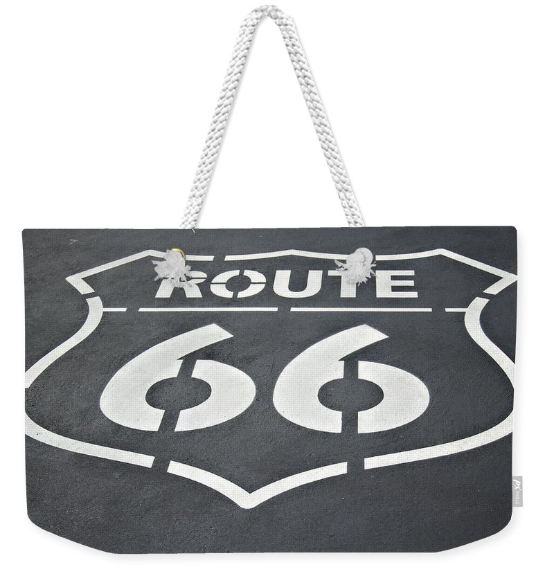 Route Weekender Tote Bag featuring the photograph The Mother Road by Ricky Barnard