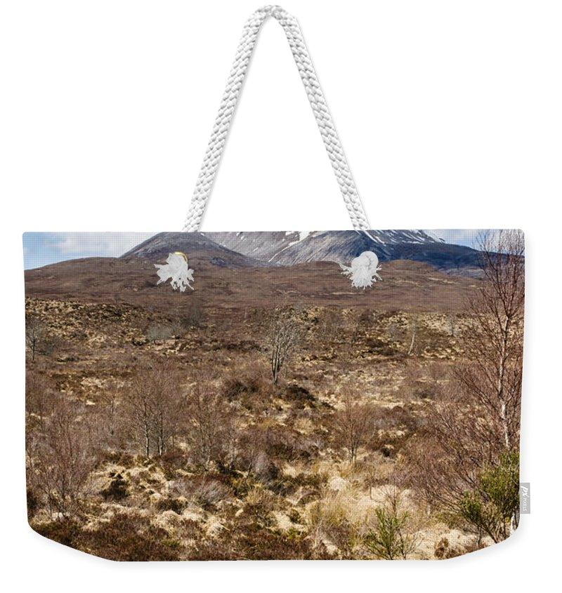 Beinn Eighe Weekender Tote Bag featuring the photograph The Munro Of Sgurr Nan Fhir Duibhe by David Head