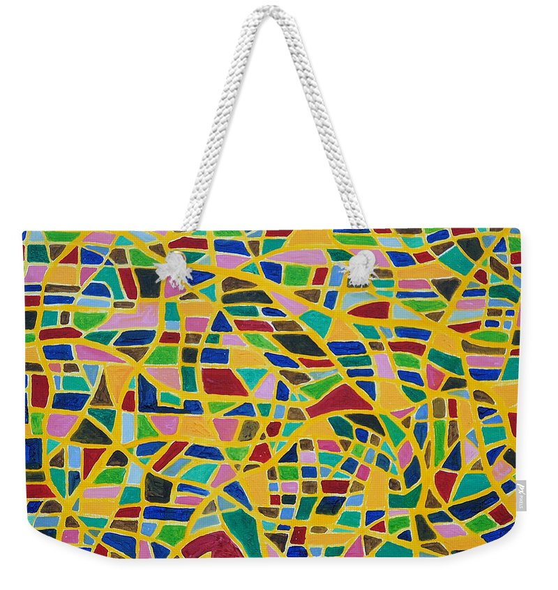Happiness Weekender Tote Bag featuring the painting Happiness By Taikan by Taikan Nishimoto