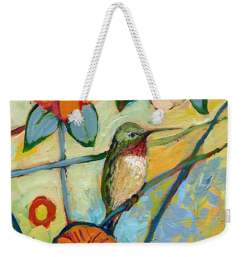 Hummingbird Weekender Tote Bag featuring the painting The NeverEnding Story No 6 by Jennifer Lommers