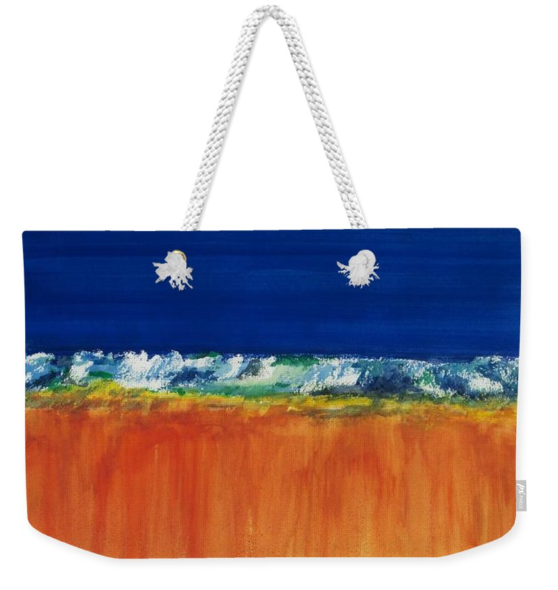 Oceans Weekender Tote Bag featuring the painting The Next Big Wave by Frances Marino