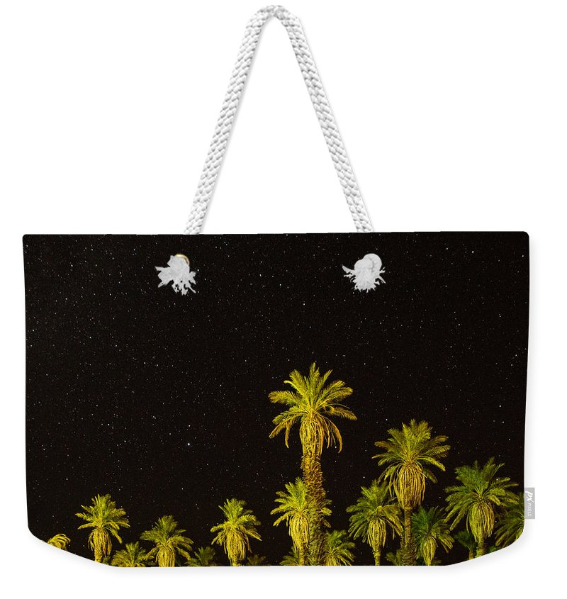 Death Valley Weekender Tote Bag featuring the photograph The Night Sky Over Death Valley by Martin Belan