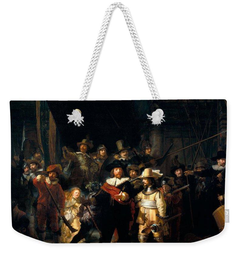 Rembrandt Van Rijn Weekender Tote Bag featuring the digital art The Night Watch by Rembrandt van Rijn