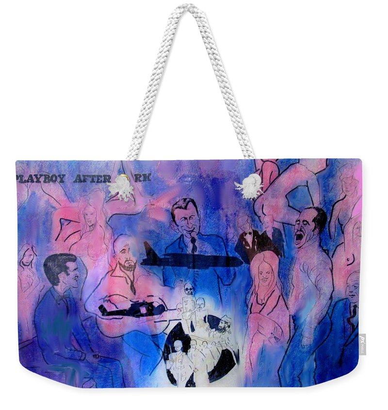 Vietnam Weekender Tote Bag featuring the drawing The Nineteen Sixties by Ian MacDonald