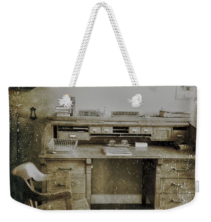 Office Weekender Tote Bag featuring the photograph The Office by The Artist Project