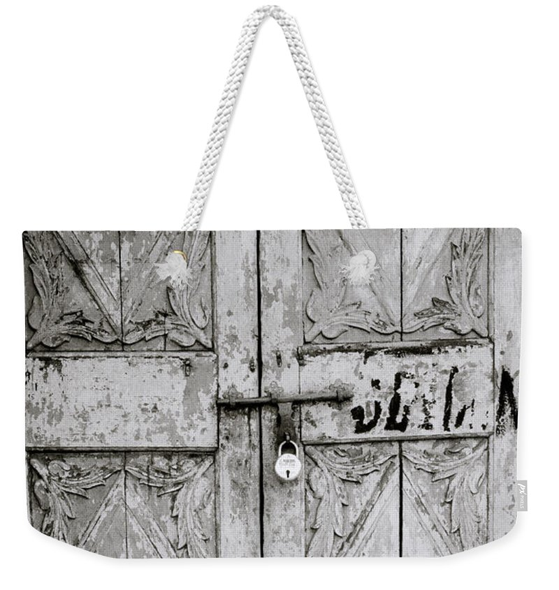 Mattancherry Weekender Tote Bag featuring the photograph The Old Door by Shaun Higson