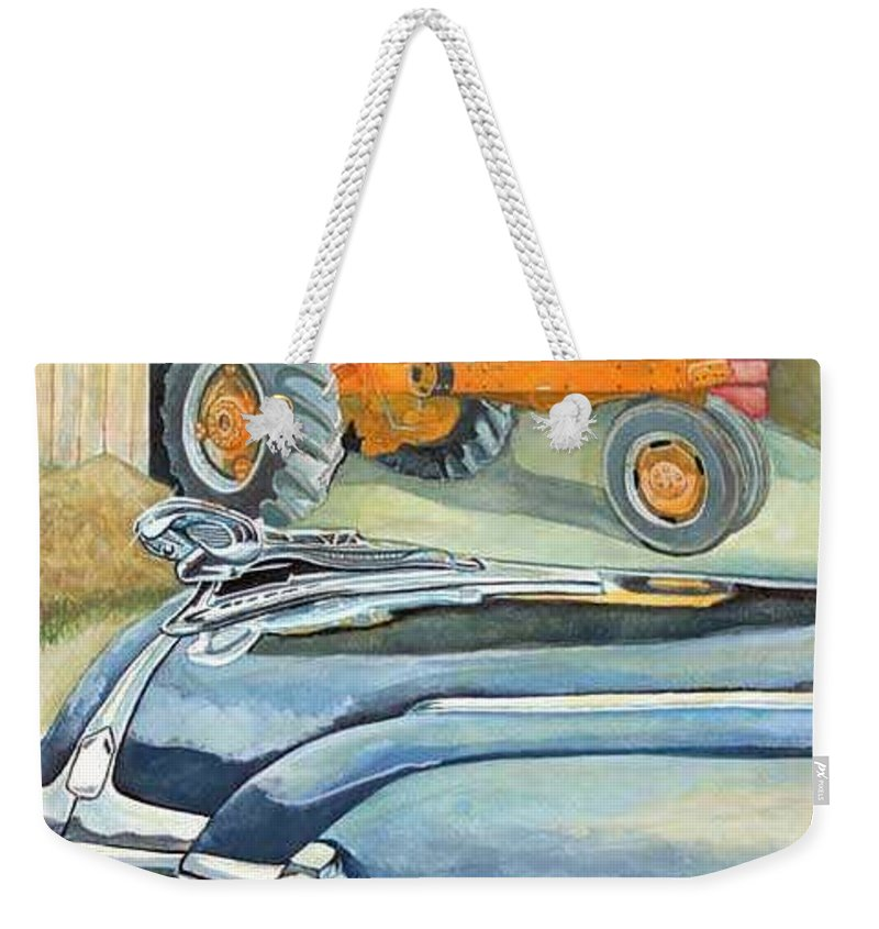 Rick Huotari Weekender Tote Bag featuring the painting The Old Farm by Rick Huotari