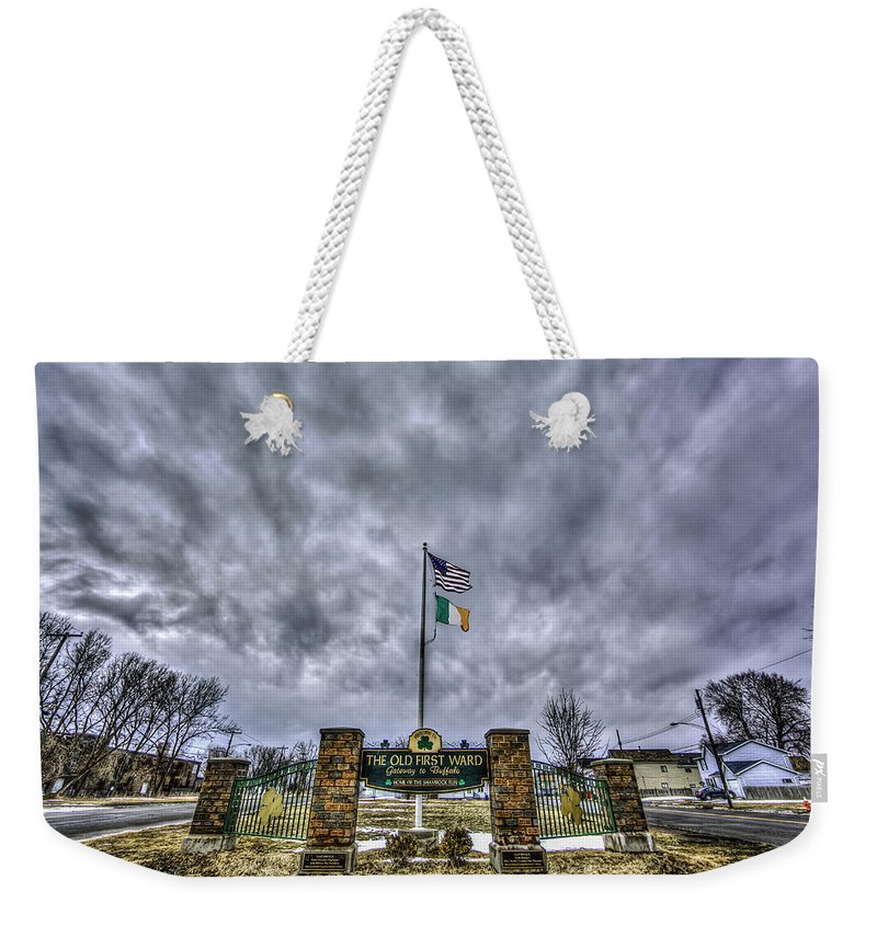 Buffalo Photographs Weekender Tote Bag featuring the photograph The Old First Ward by John Lattanzio