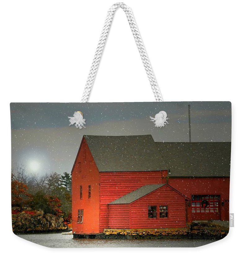 Home Weekender Tote Bag featuring the photograph The Old Mill Kirby Pond by Diana Angstadt
