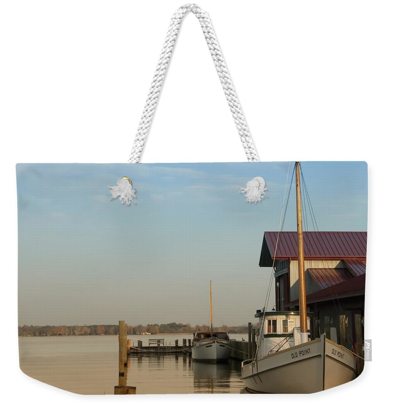 The Old Point - St Michaels Weekender Tote Bag featuring the photograph The Old Point - St Michaels by Bill Cannon