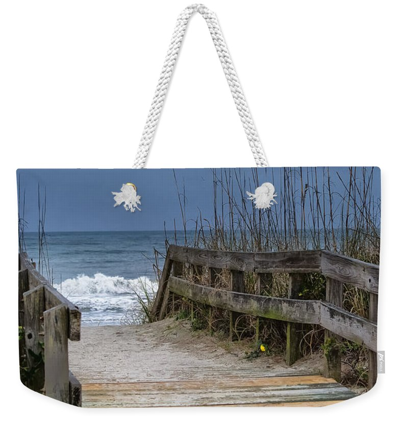 Beach Weekender Tote Bag featuring the photograph The Old Walkway by Scott Hervieux