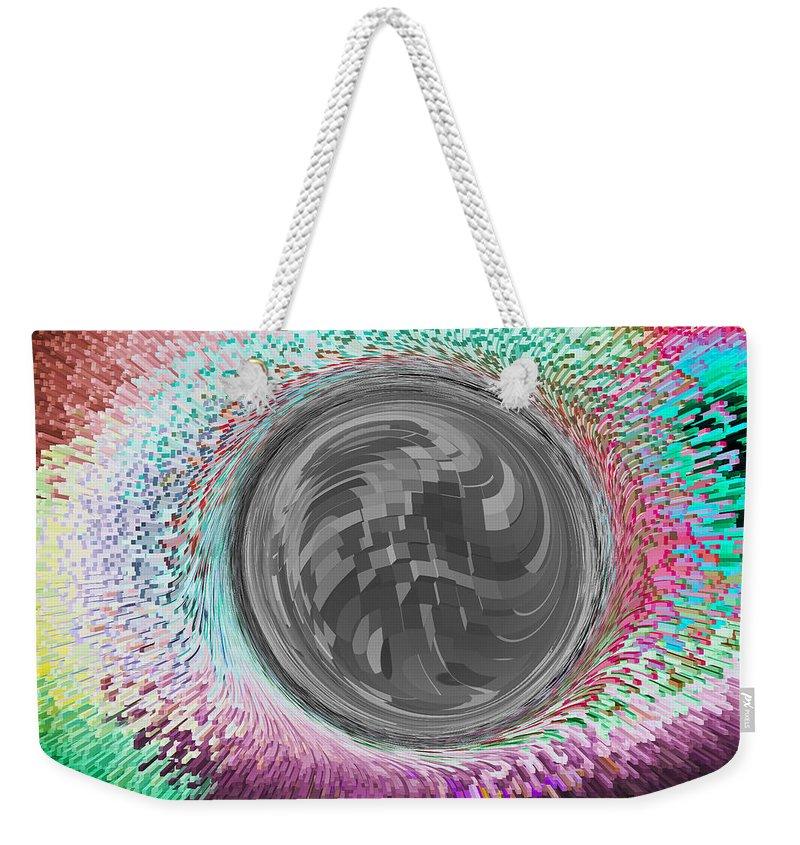 Orb Weekender Tote Bag featuring the digital art The Orb Art by David Pyatt