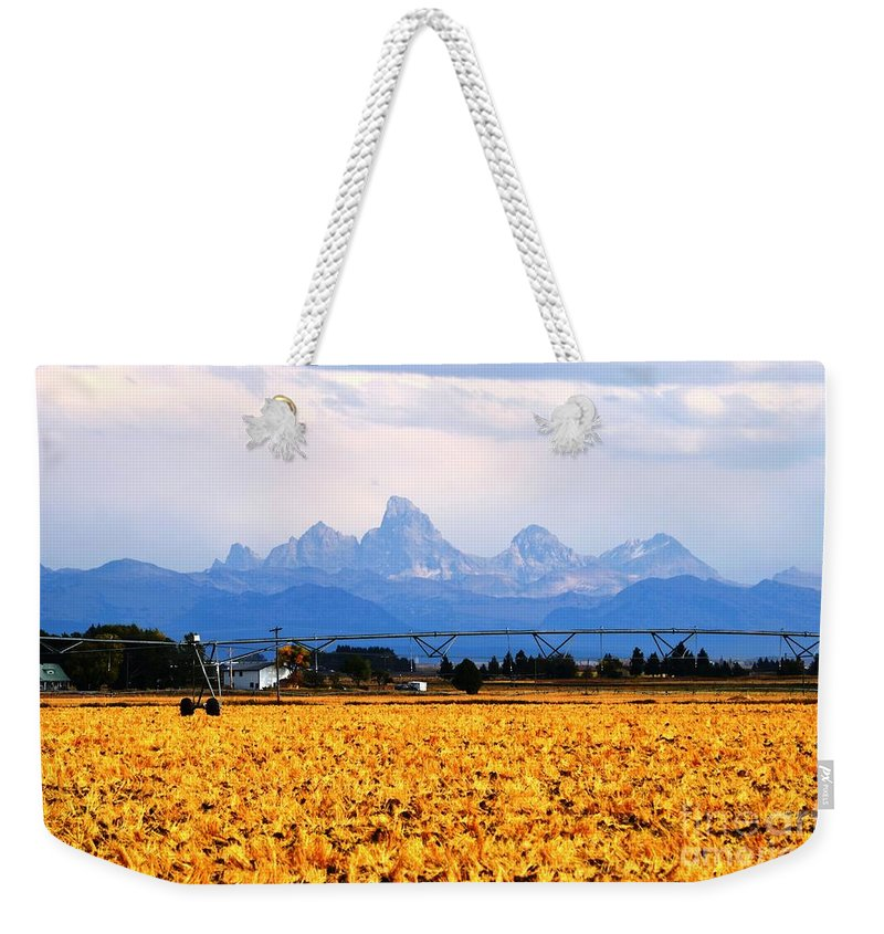 Grand Tetons Weekender Tote Bag featuring the photograph The Other Side by Deanna Cagle