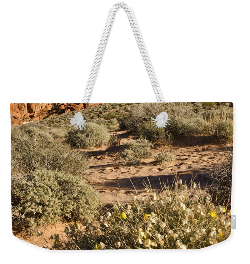 Outcropping Weekender Tote Bag featuring the photograph The Outcropping by Mike Nellums