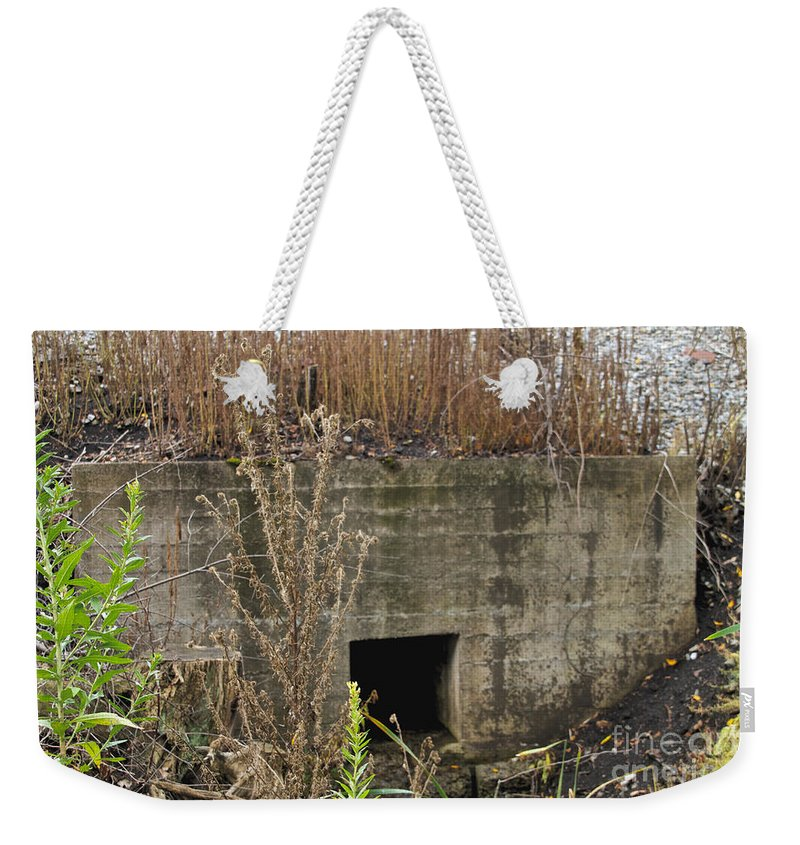 Drain Weekender Tote Bag featuring the photograph The Outlet by William Norton
