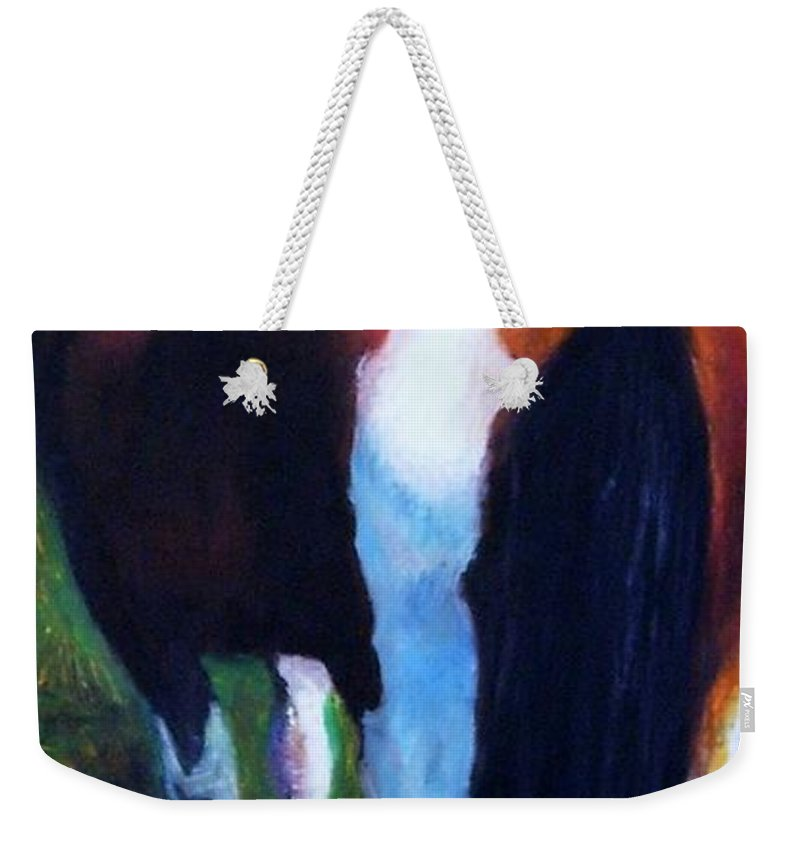 Horses Weekender Tote Bag featuring the painting The Paint by Frances Marino