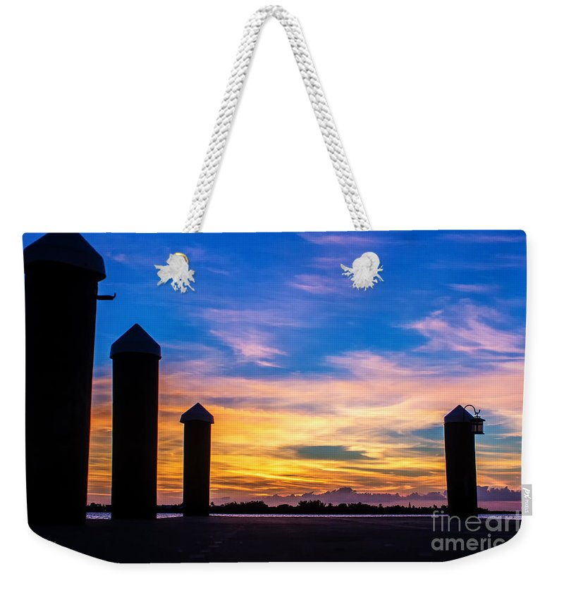 Key Largo Weekender Tote Bag featuring the photograph The Painted Sky by Rene Triay Photography