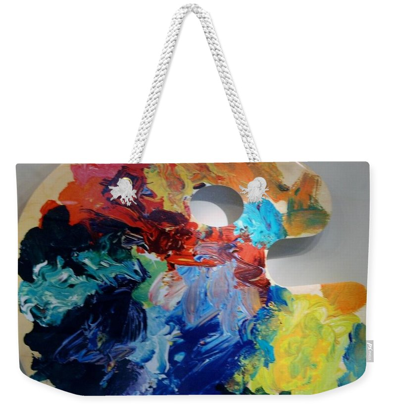 Abstract Weekender Tote Bag featuring the photograph The Palet by Rob Hans
