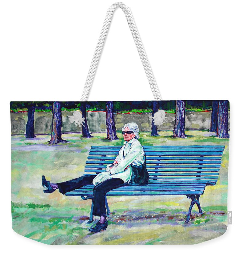 Park Weekender Tote Bag featuring the painting The Park by Derrick Higgins