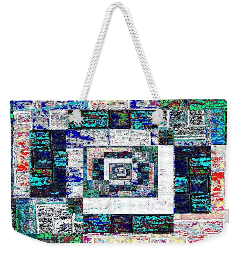 Patchwork Weekender Tote Bag featuring the digital art The Patchwork by Tim Allen