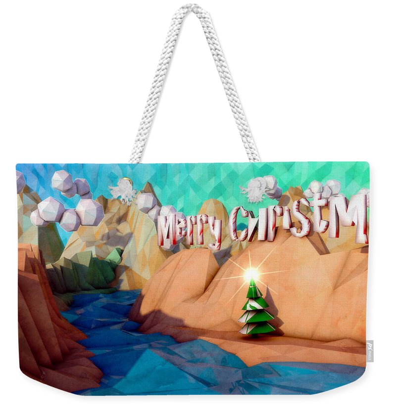 C4d Weekender Tote Bag featuring the digital art The Perfect Christmas Tree by Adam Vance
