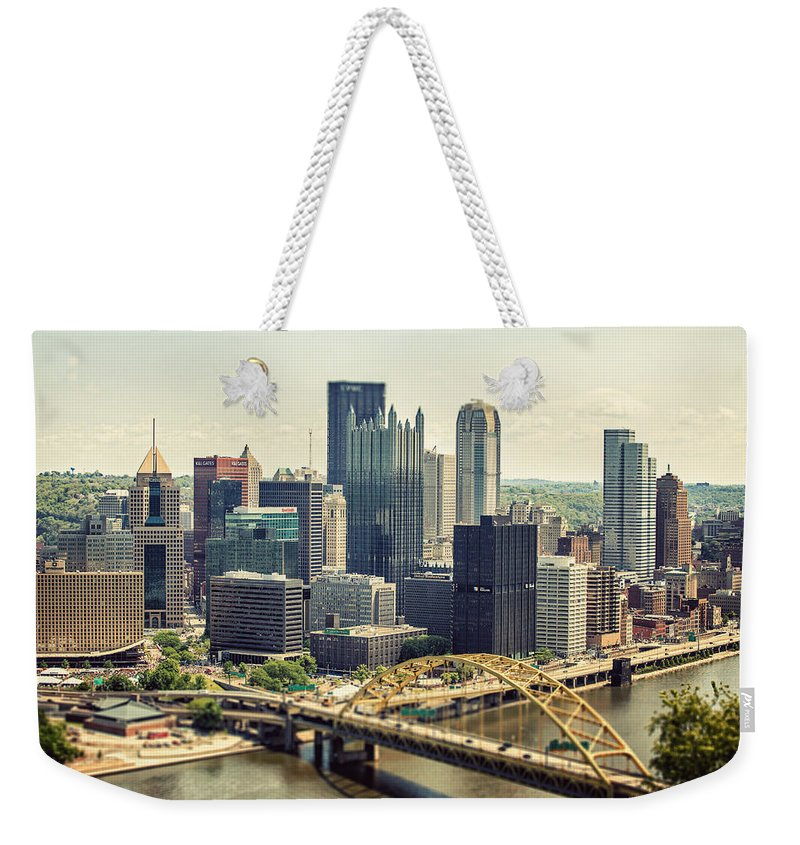 Pittsburgh Weekender Tote Bag featuring the photograph The Pittsburgh Skyline by Lisa Russo