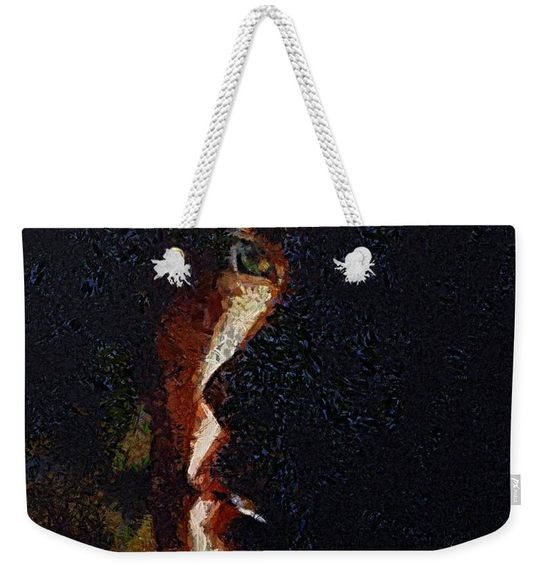 Face Weekender Tote Bag featuring the painting The Play Of Light by Dragica Micki Fortuna