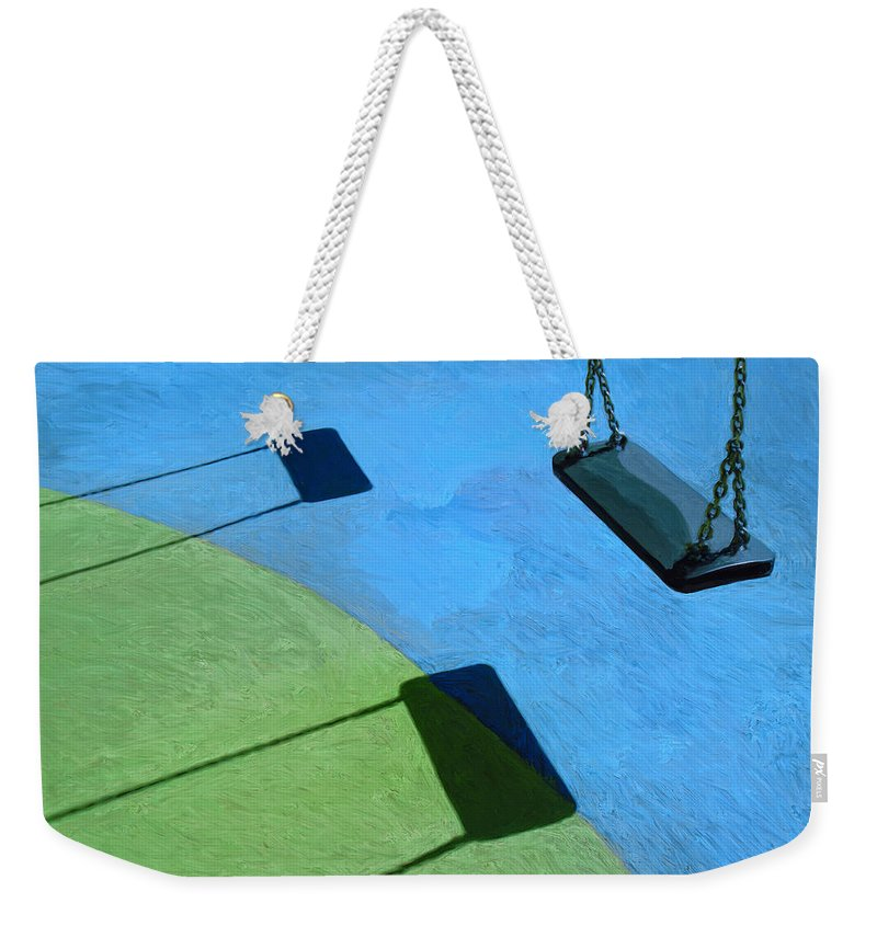 Playground Weekender Tote Bag featuring the painting The Playground by Dominic Piperata