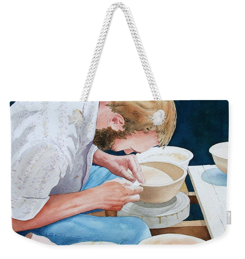 Potter Weekender Tote Bag featuring the painting The Potter by Jim Gerkin