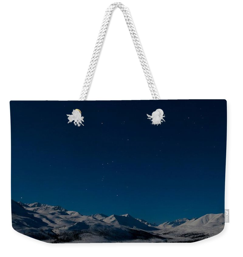 Dempster Highway Weekender Tote Bag featuring the photograph The Presence Of Absolute Silence by Priska Wettstein